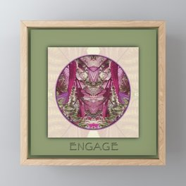 Engage Manifestation Mandala No. 7 Framed Mini Art Print