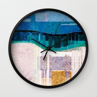 cityscape Wall Clocks featuring CITYSCAPE by Catspaws
