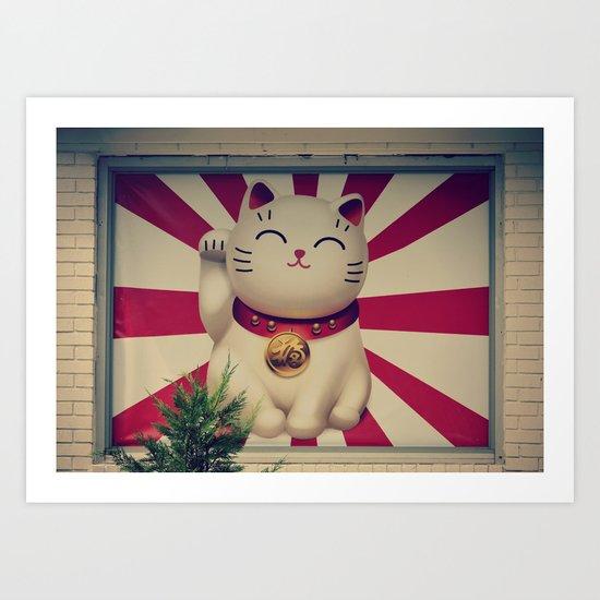 The Lucky Cat Art Print
