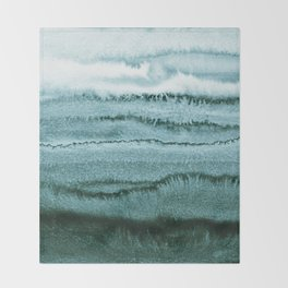 WITHIN THE TIDES - OCEAN TEAL Throw Blanket