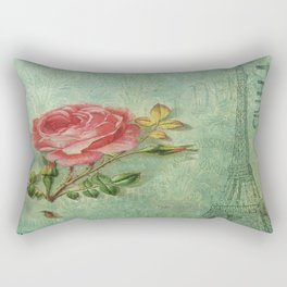 Paris Rose Rectangular Pillow