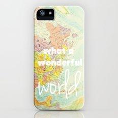What a Wonderful World Slim Case iPhone (5, 5s)