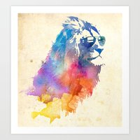 colour Art Prints featuring Sunny Leo   by Robert Farkas