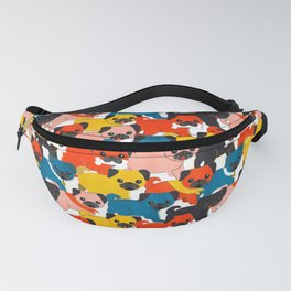 COLORED PUGS PATTERN no2 Fanny Pack