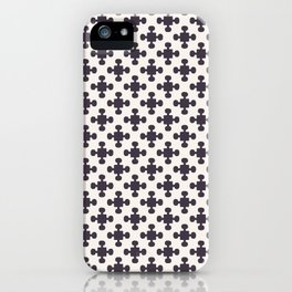 Hand drawn mosaic tile shapes. Repeating geo azulejo background. iPhone Case