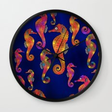 C13D SEAHORSE PATTERN Wall Clock