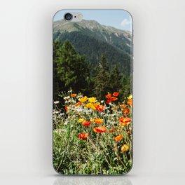 Mountain garden iPhone Skin