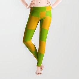 Lime Green & Golden Yellow Chex 2 Leggings