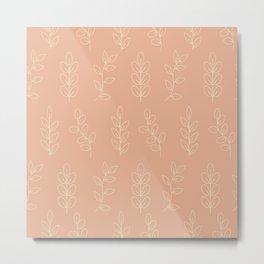 Rose tone leaves pattern Metal Print