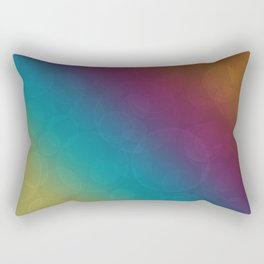 Bohek Bubbles on Rainbow of Color - Ombre multi Colored Spheres Rectangular Pillow