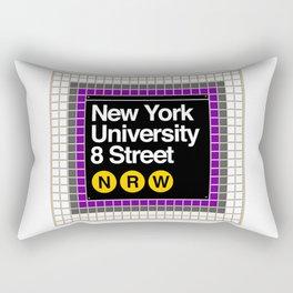 subway nyu sign Rectangular Pillow