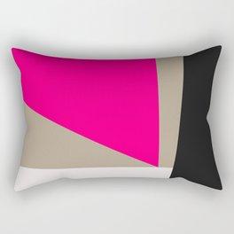 Modern Vintage Minimal Inspired Geometric Colorfield Art Print Rectangular Pillow