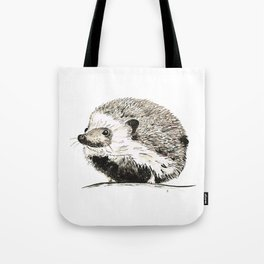 Hedgehog watercolour and ink Tote Bag