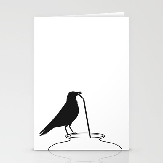 Thirsty crow Stationery Cards