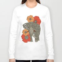 bar Long Sleeve T-shirts featuring The Elephant by Valentina Harper