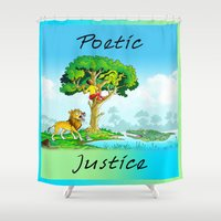 justice Shower Curtains featuring Poetic Justice by Anthony Mwangi