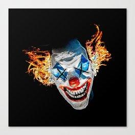 Dead Clown Barbecue Canvas Print