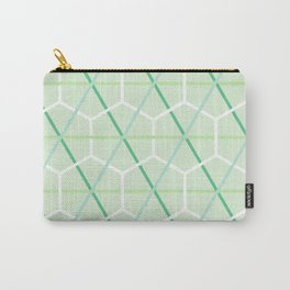 Mint Green Honeycomb Check Carry-All Pouch