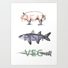 Food Groups Art Print