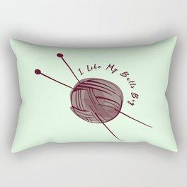 I Like My Balls Big Funny Sewing Pun Sew Rectangular Pillow