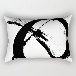 Brushstroke 7: a minimal, abstract, black and white piece Rectangular Pillow