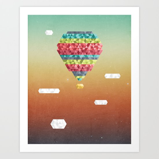 Triangular Skies Art Print