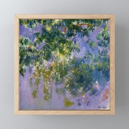 "Claude Monet ""Wisteria"", 1920 (right side) Framed Mini Art Print"