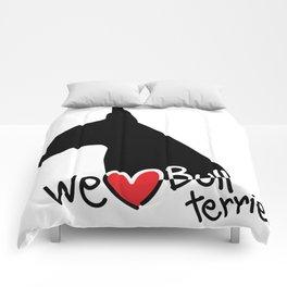We love Bull terrier Comforters