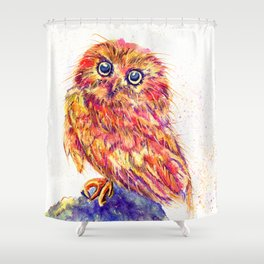 Caffeinated Owl Shower Curtain