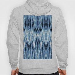 Blue Satin Shibori Argyle Hoody