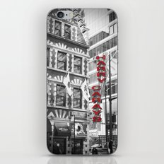 Red Harry Caray's Black and White Chicago Photography iPhone & iPod Skin