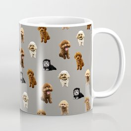 Dog Family pattern in gray Coffee Mug