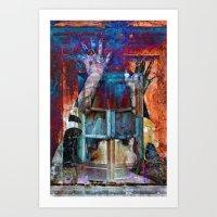 breaking Art Prints featuring BREAKING WALLS  by CAPTAINSILVA
