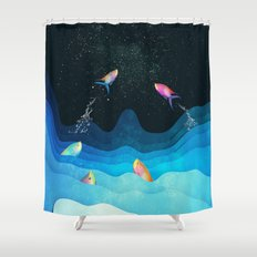 Come to reach the stars Shower Curtain