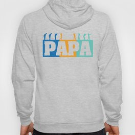 Retro Golfing Papa Golf Gifts For Fathers Day, Leisure Time Golfer Dad Life Golf Player Hoody