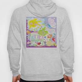 My happy world Doodle for children room Nursery home decor Hoody