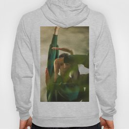 Woman face with hands, geometry Hoody