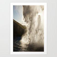 Sunset Waterfall Art Print