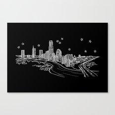Austin, Texas City Skyline Canvas Print