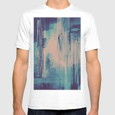 slow glitch Mens Fitted Tee White MEDIUM