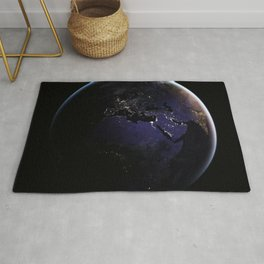 The Earth at Night 1 Rug