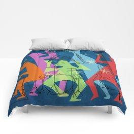 Mid-Century Modern Jazz Band Comforters