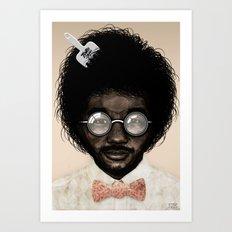 Portrait of Toro Y Moi Art Print