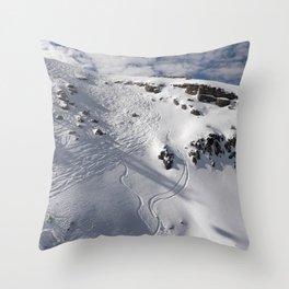 Ski Slopes Throw Pillow