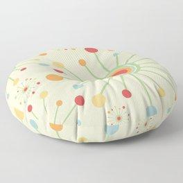 Mid Century Modern Retro 1970s Inspired SunBurst in Muted Colors Floor Pillow