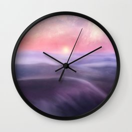 Minimal abstract landscape III Wall Clock
