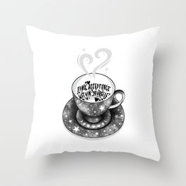 Tea Leaf Reading in Tea Cup - Find Acceptance Within Yourself Throw Pillow