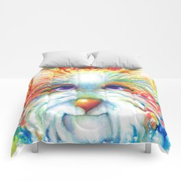 West Highland White Terrier Westie Dog Winston abstract dog art Comforters