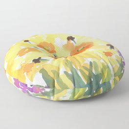 Spring Daffodil Patch Floor Pillow
