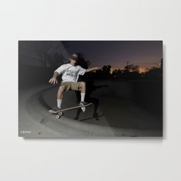 Kevin Offerman. Frontside Five in Shallow  Metal Print